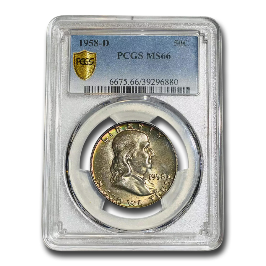1958-D Franklin Half Dollar MS-66 PCGS