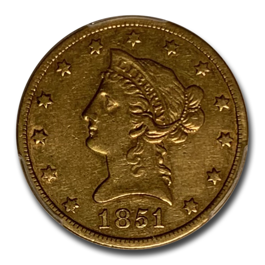 1851-O $10 Liberty Gold Eagle XF-40 PCGS
