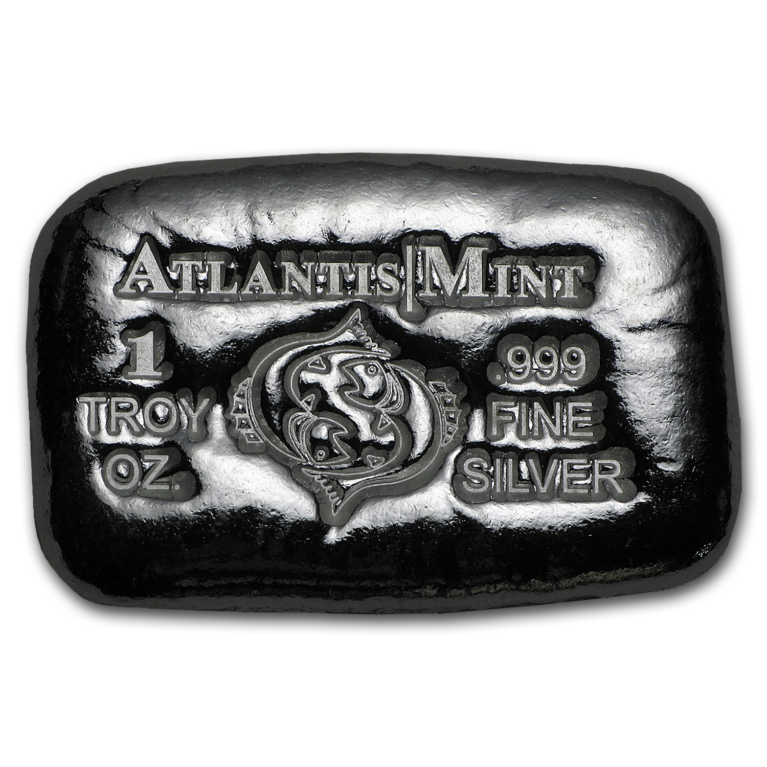 1 oz Silver Bar - Atlantis Mint (Zodiac Series, Pisces)