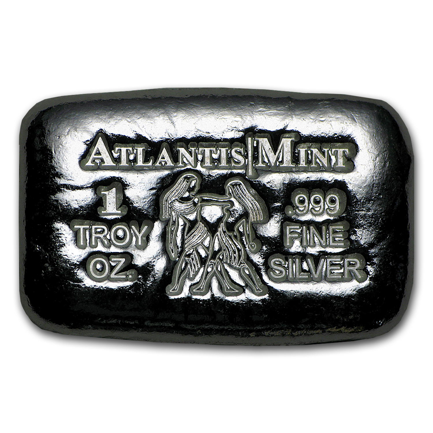 1 oz Silver Bar - Atlantis Mint (Zodiac Series, Gemini)