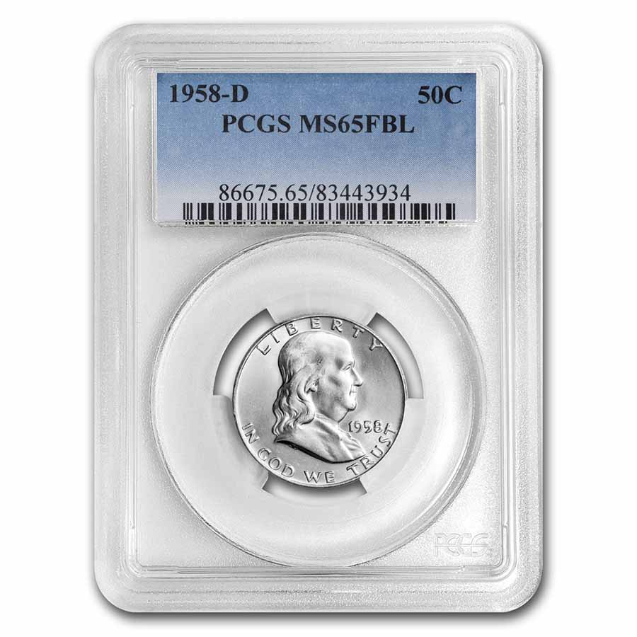 1958-D Franklin Half Dollar MS-65 PCGS (FBL)