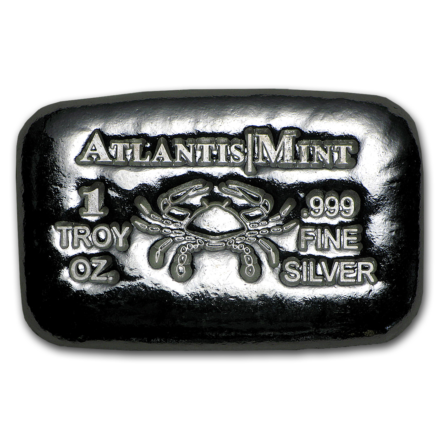 1 oz Silver Bar - Atlantis Mint (Zodiac Series, Cancer)