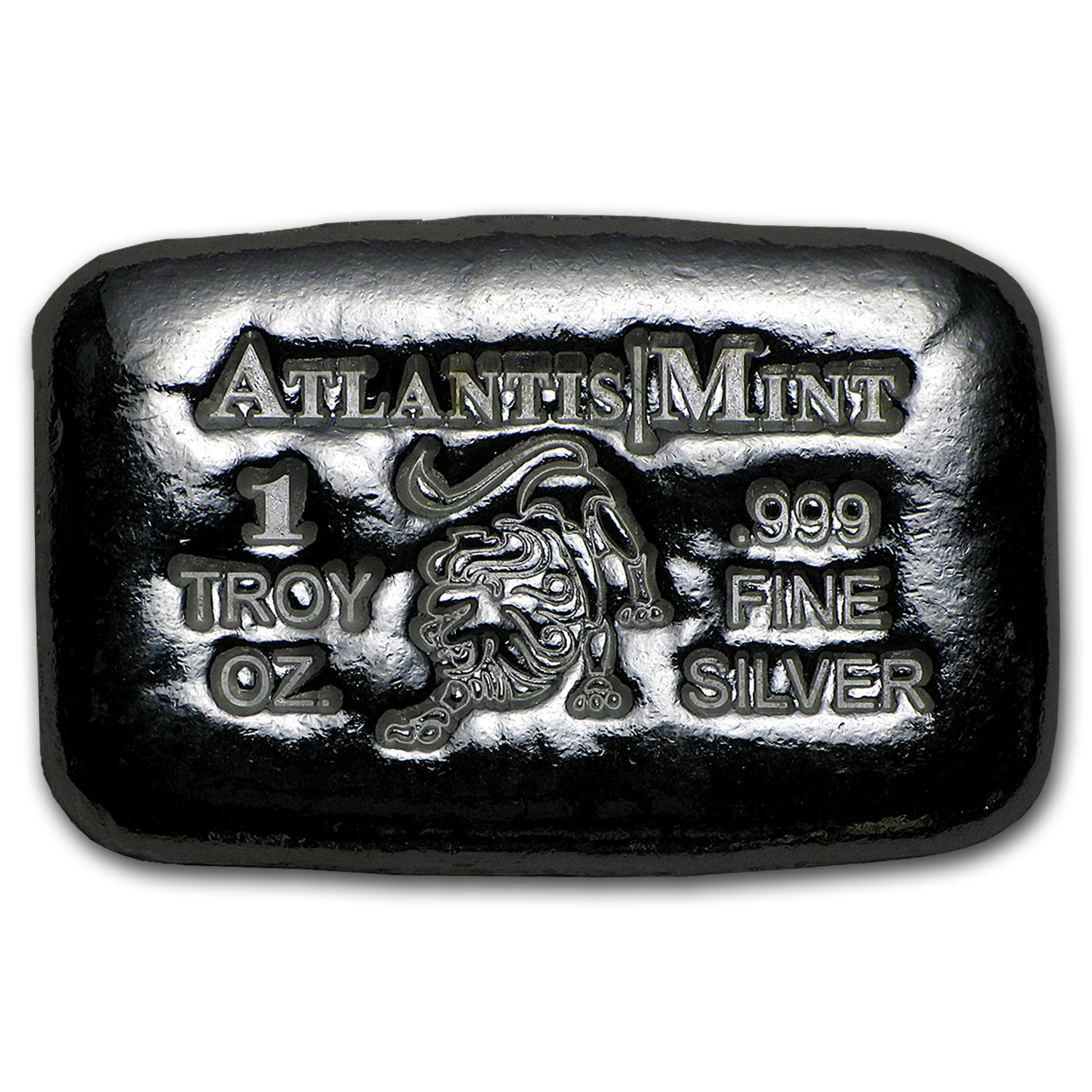 1 oz Silver Bar - Atlantis Mint (Zodiac Series, Leo)