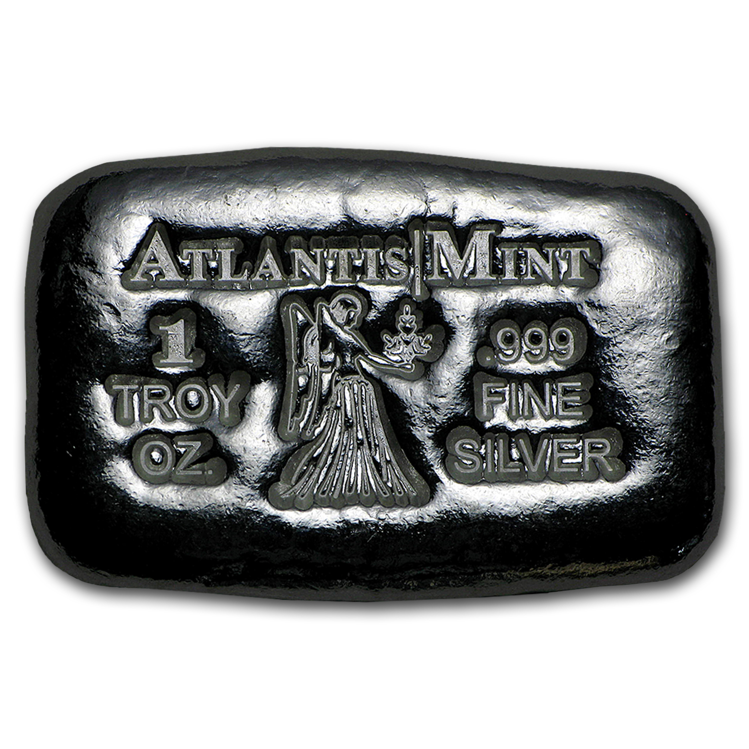 1 oz Silver Bar - Atlantis Mint (Zodiac Series, Virgo)