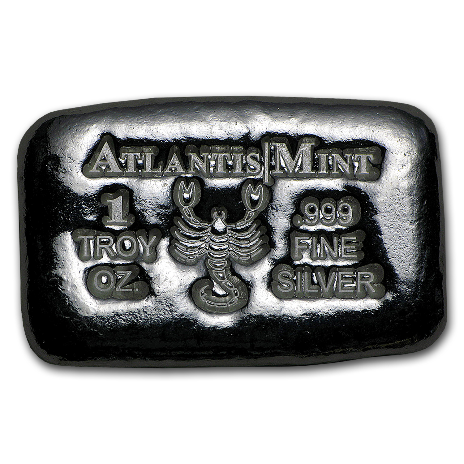 1 oz Silver Bar - Atlantis Mint (Zodiac Series, Scorpio)