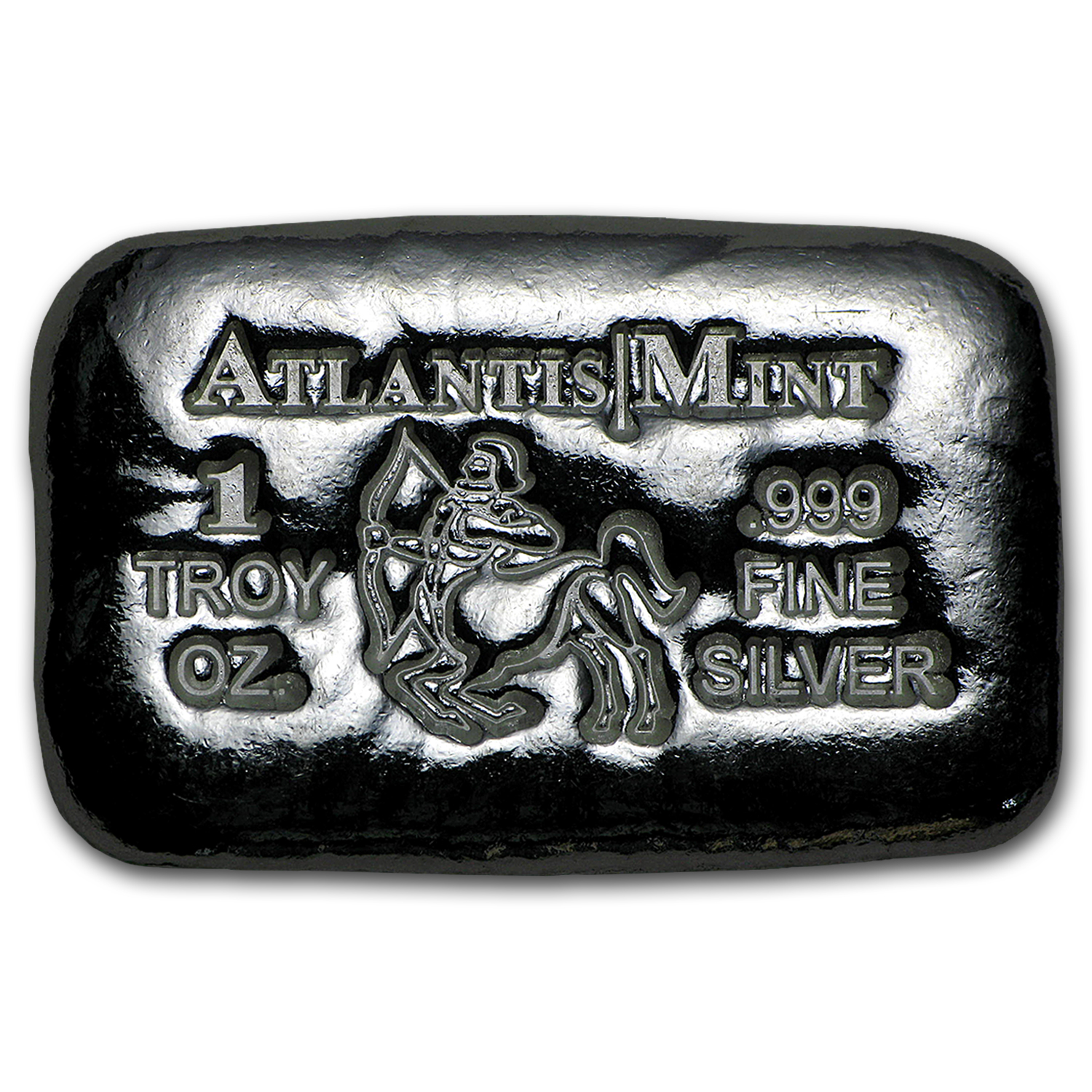 1 oz Silver Bar - Atlantis Mint (Zodiac Series, Sagittarius)