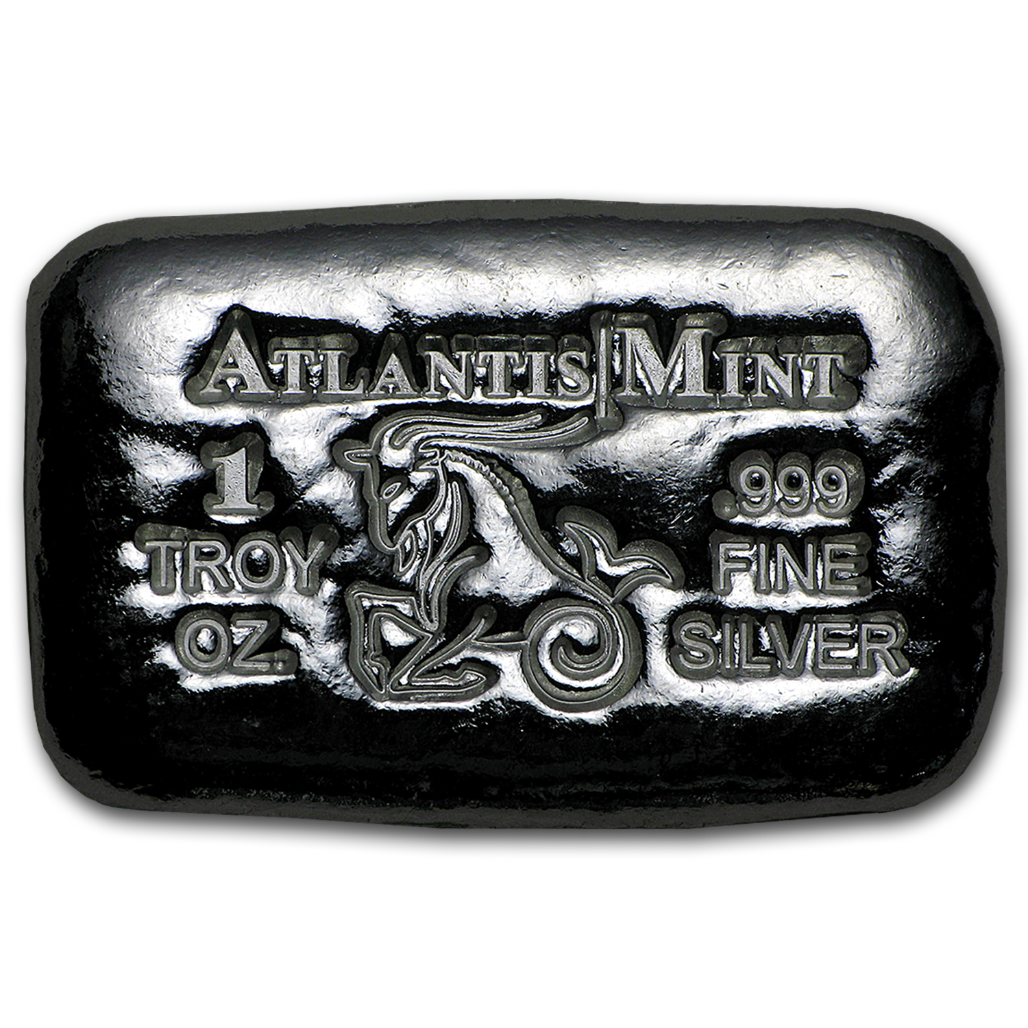 1 oz Silver Bar - Atlantis Mint (Zodiac Series, Capricorn)