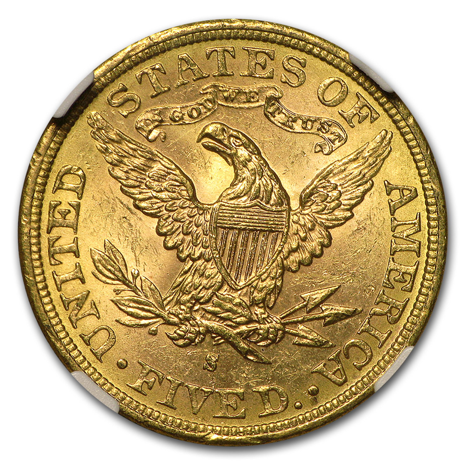 1883-S $5 Liberty Gold Half Eagle MS-63 NGC