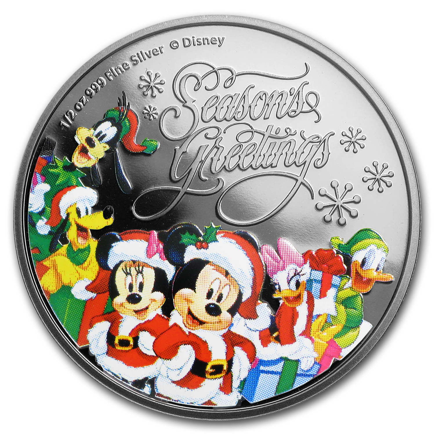2016 Niue 1/2 oz Silver $1 Disney Season's Greetings Proof