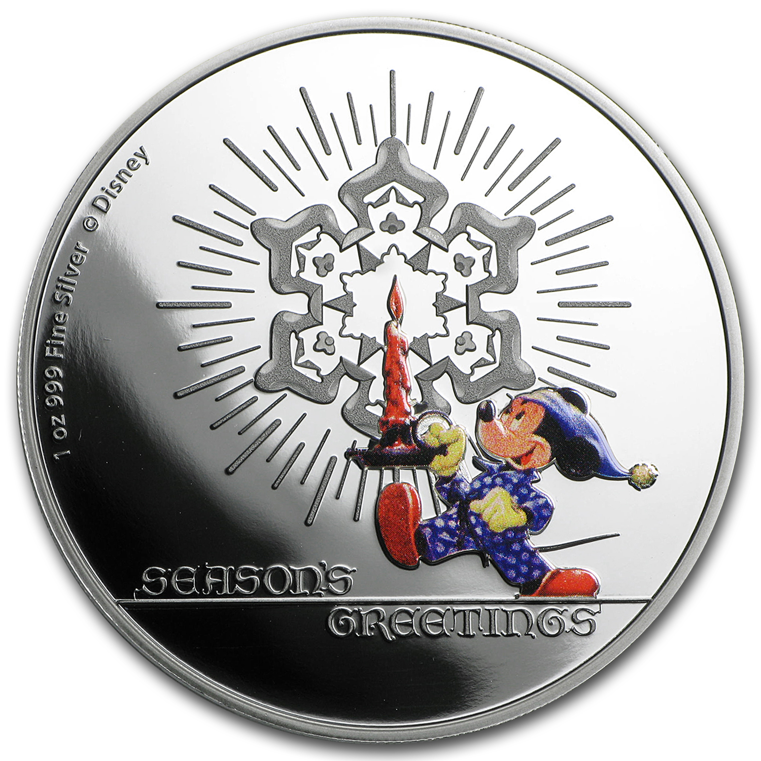 2016 Niue 1 oz Silver $1 Disney Season's Greetings Proof
