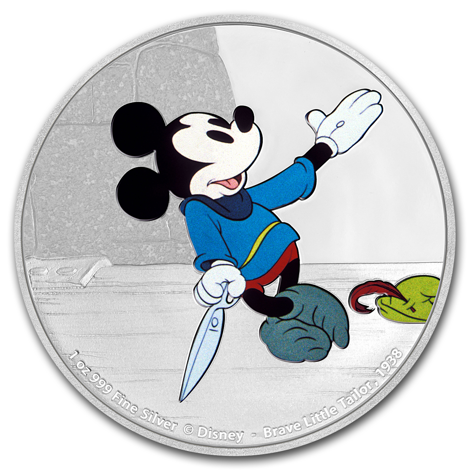 2016 1 oz Silver $2 Mickey Through the Ages: Brave Little Tailor
