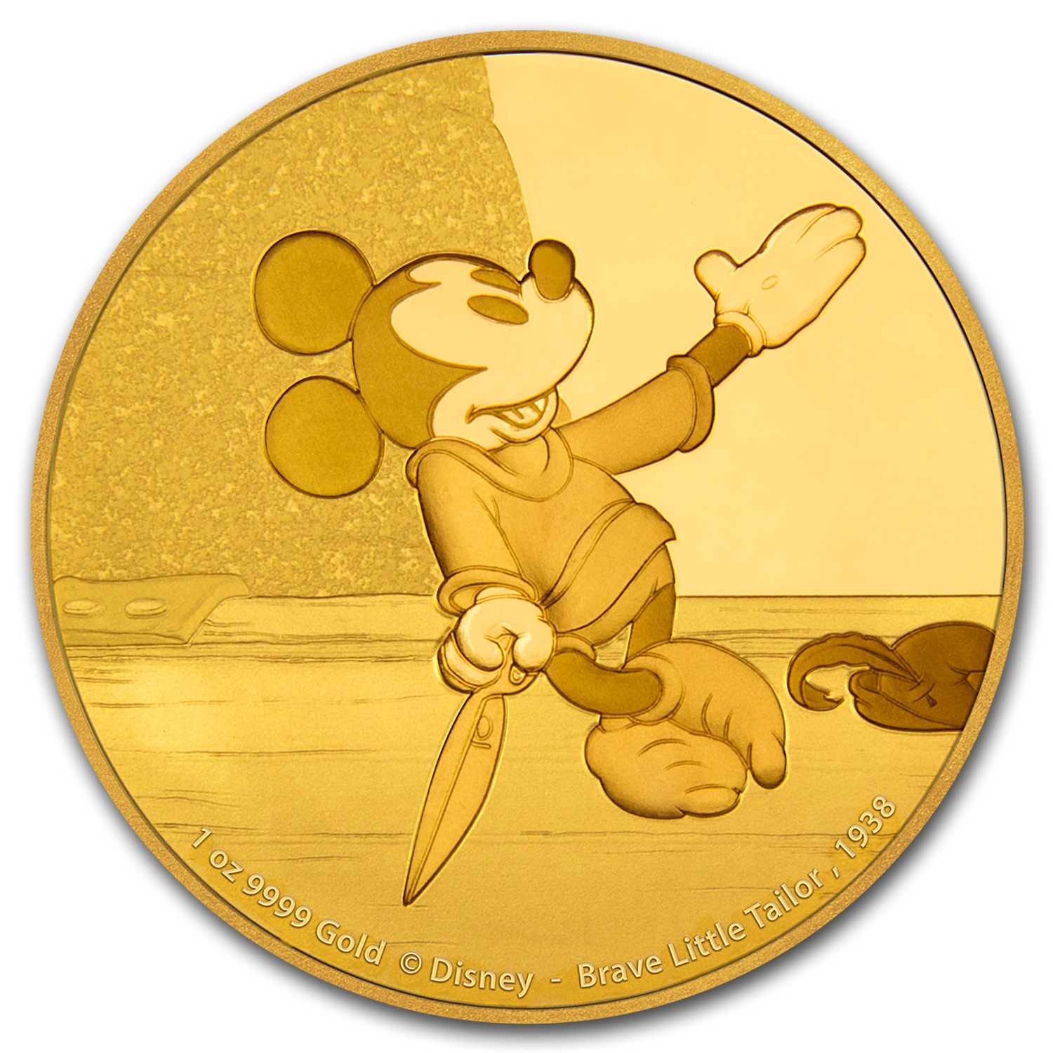 2016 1 oz Gold $250 Mickey Through the Ages: Brave Little Tailor