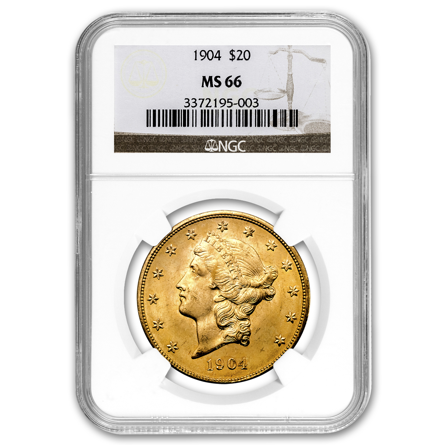 $20 Liberty Gold Double Eagle MS-66 NGC