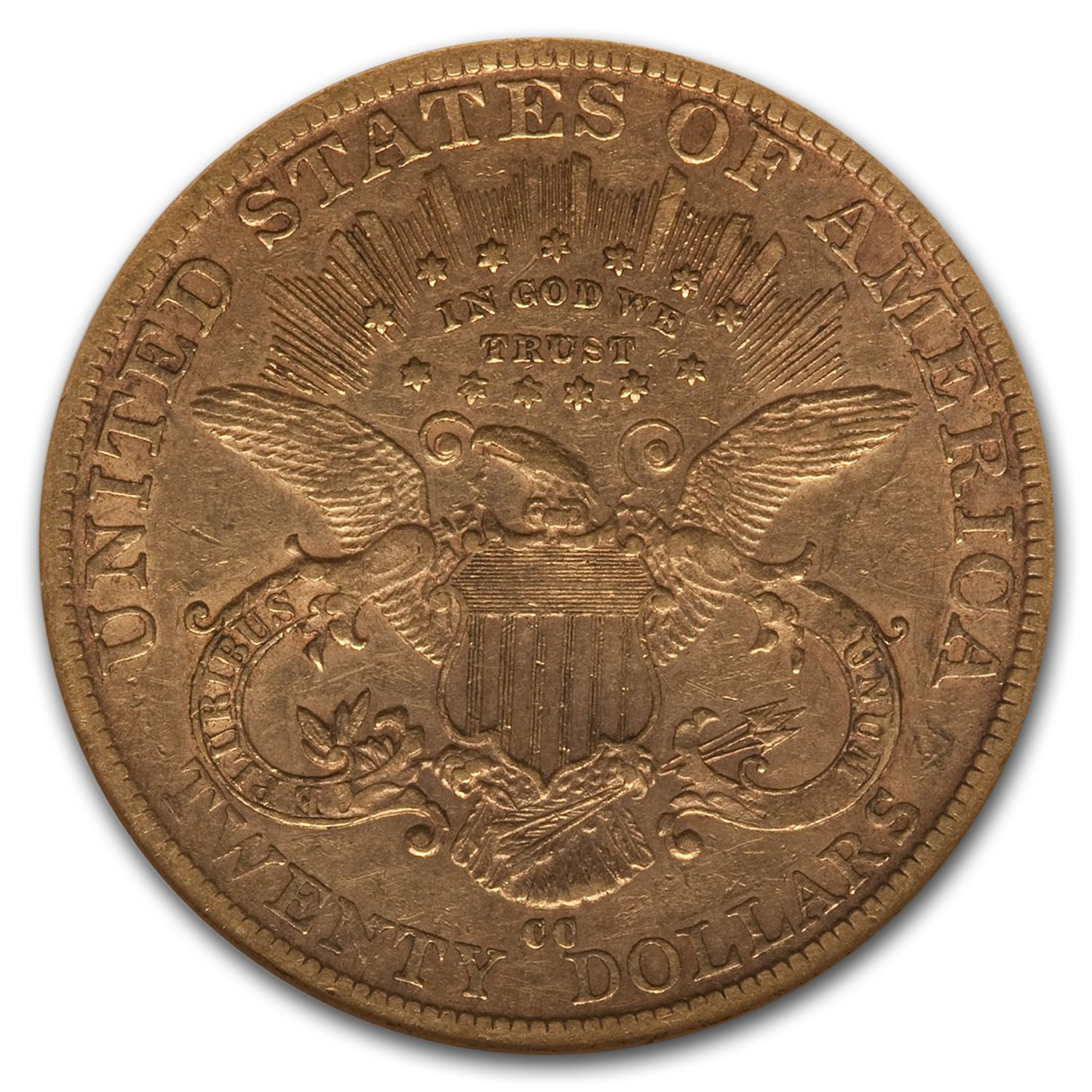 1889-CC $20 Liberty Gold Double Eagle XF-45 NGC