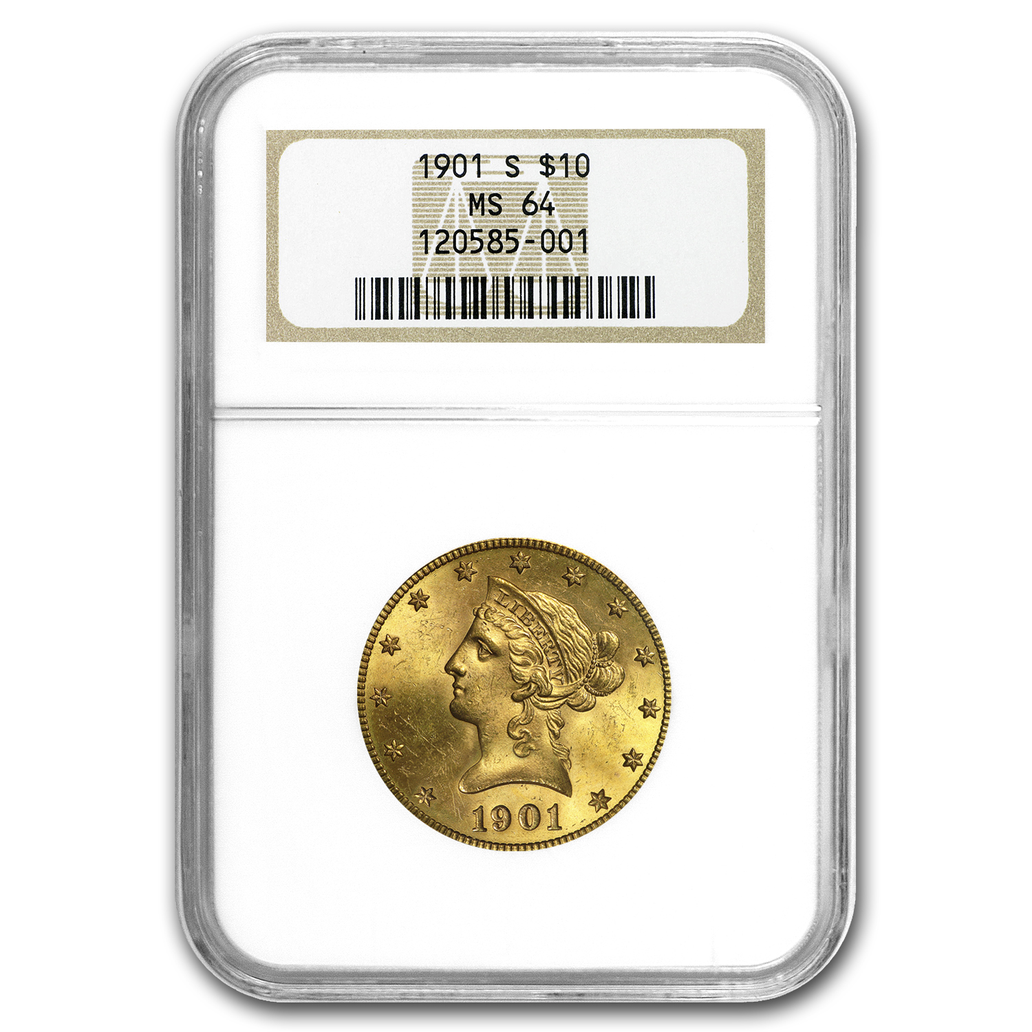 1901-S $10 Liberty Gold Eagle MS-64 NGC