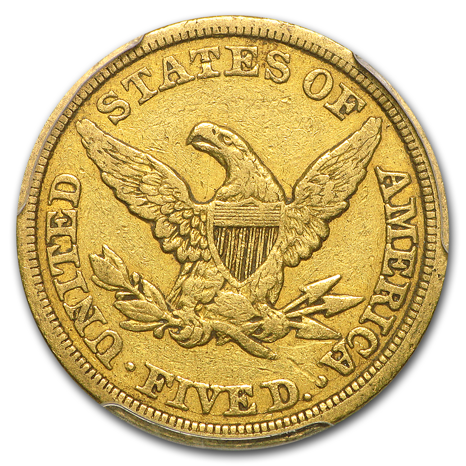 1848 $5 Liberty Gold Half Eagle VF-35 PCGS