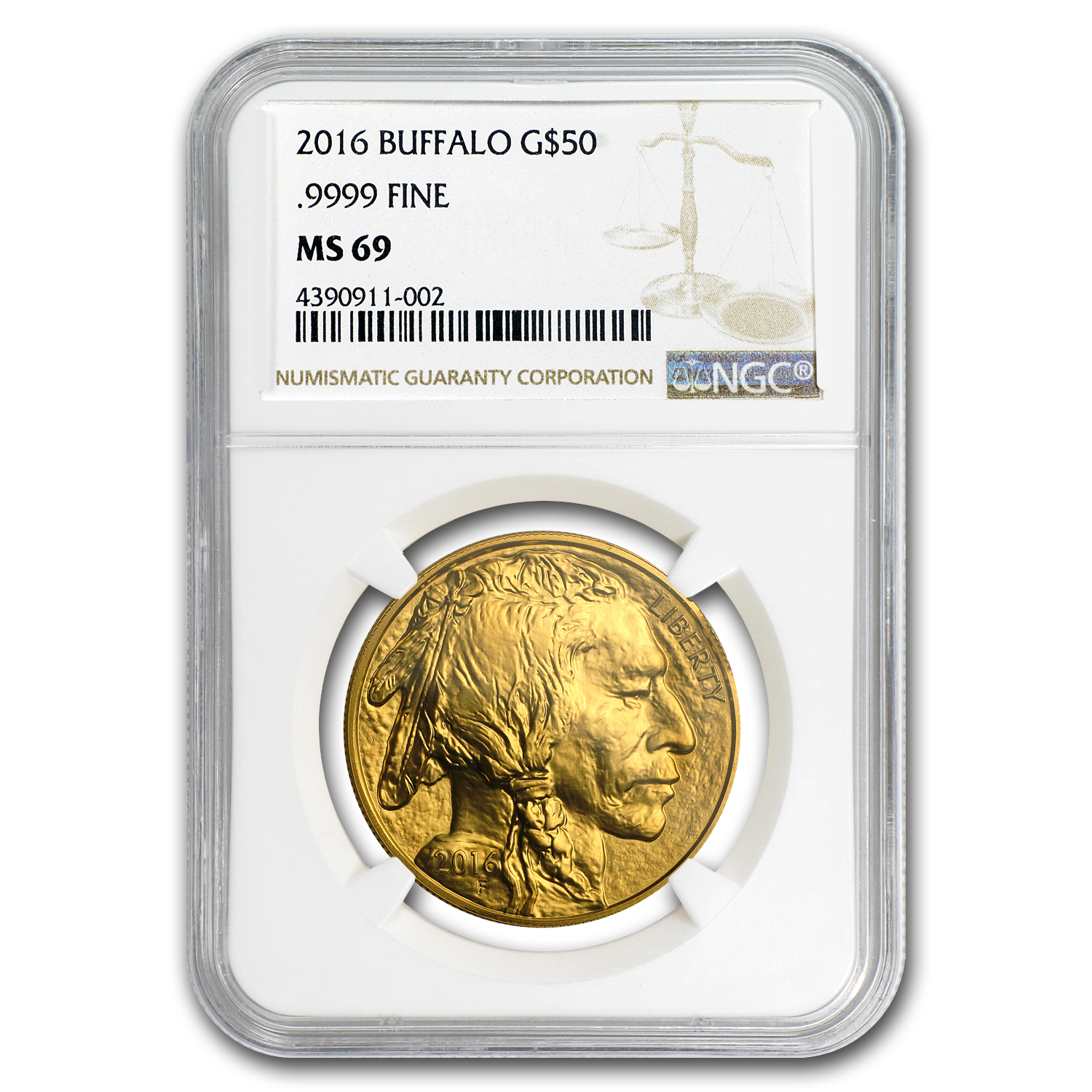 2016 1 oz Gold Buffalo MS-69 NGC