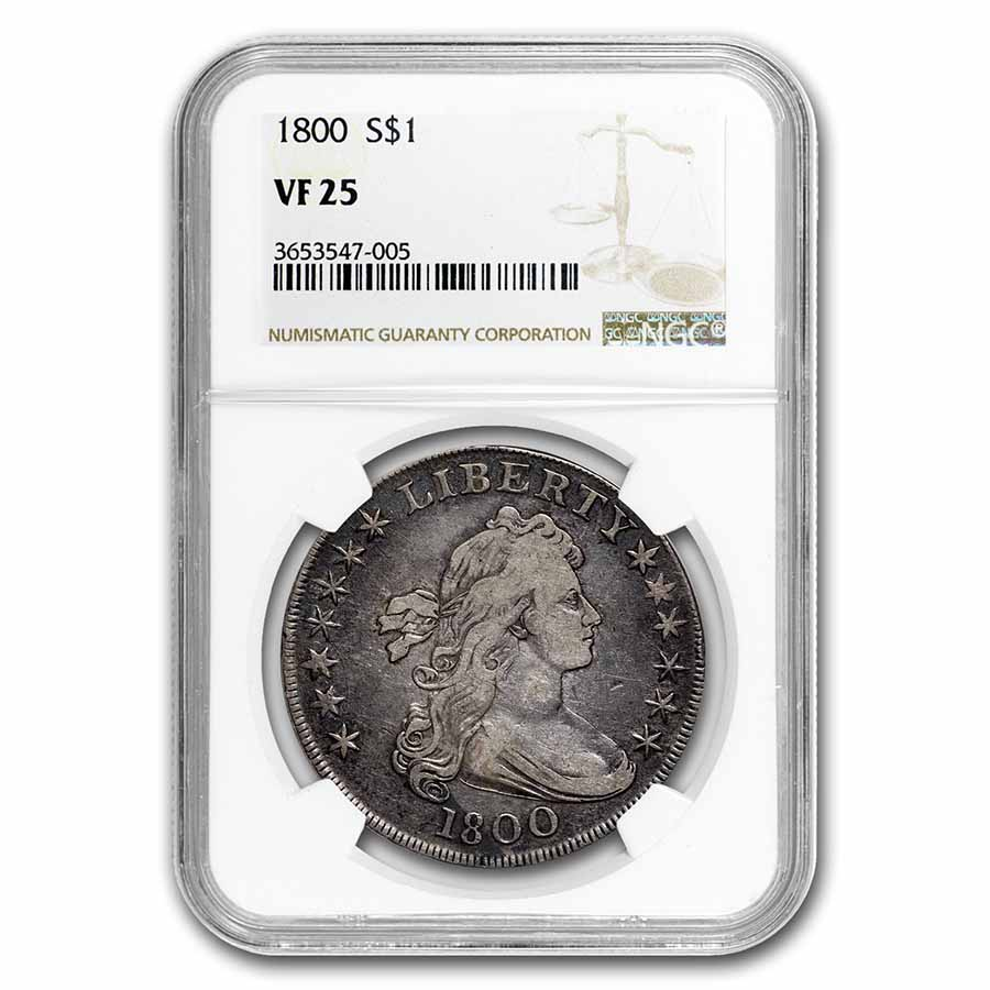 1800 Draped Bust Dollar VF-25 NGC