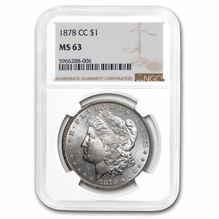 1878-CC Morgan Dollar - MS-63 NGC