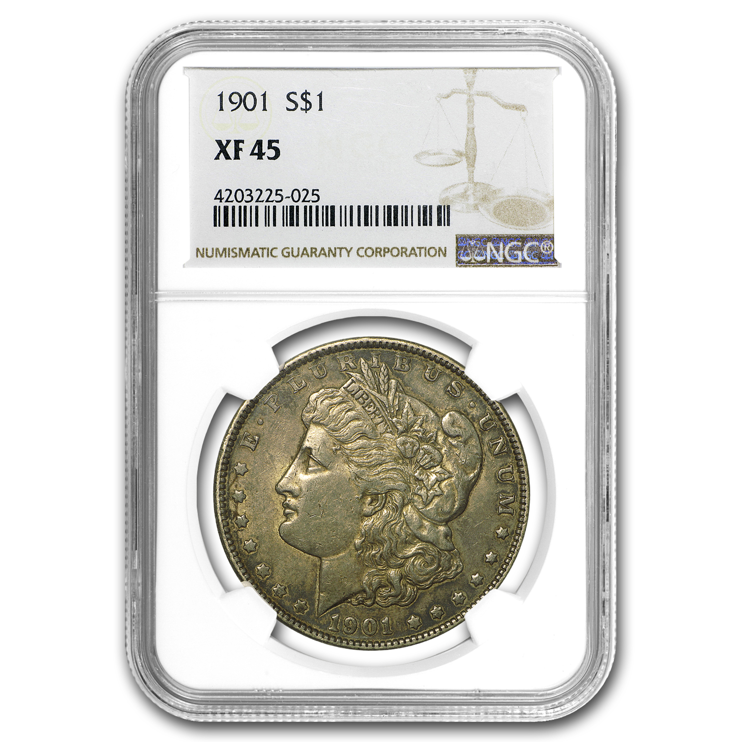 1901 Morgan Dollar XF-45 NGC