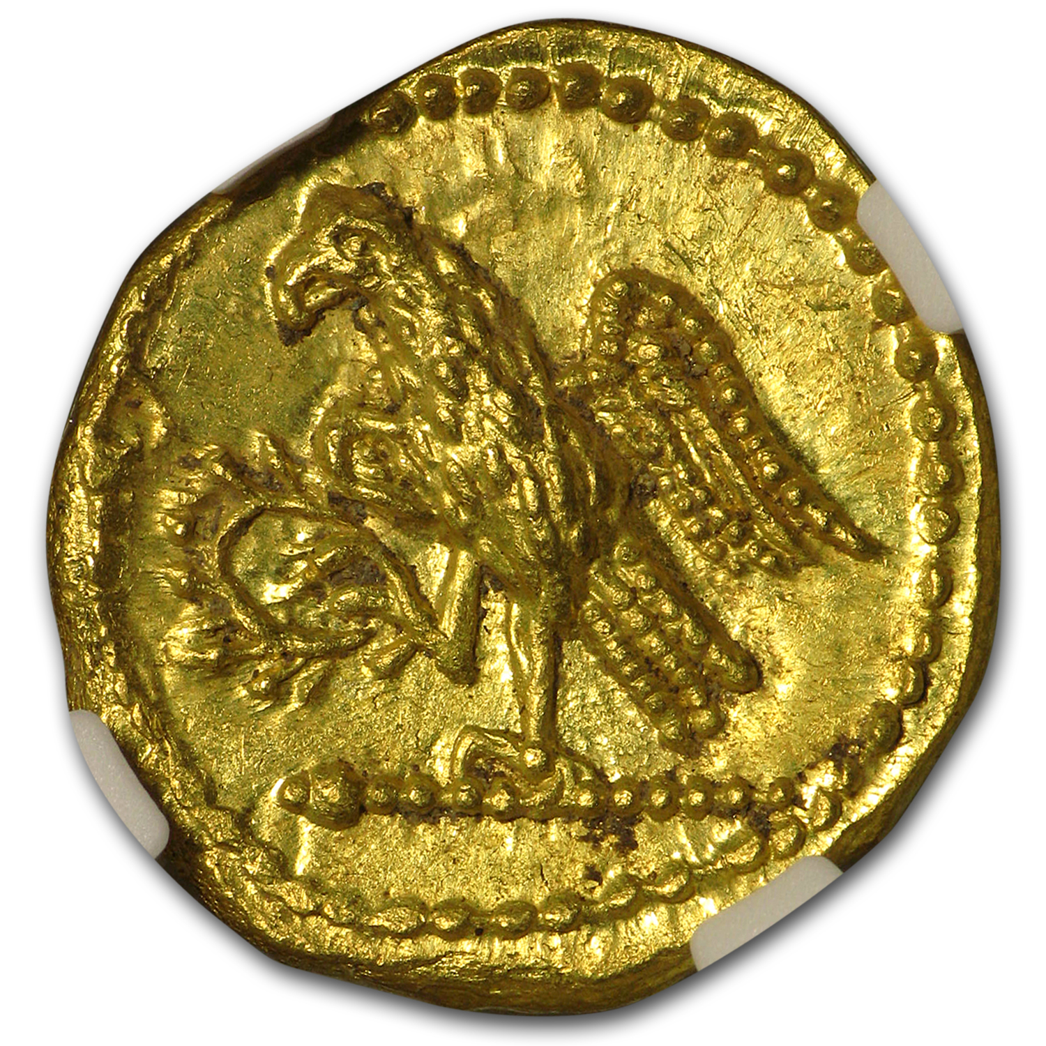 Thracian/Scythian Gold Stater w/Monogram (1st Cent. BC) CH MS NGC