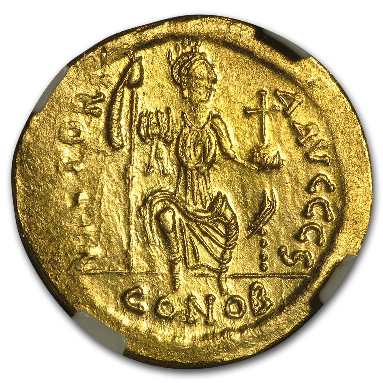 Byzantine Gold Solidus Emperor Justin II (565-578 AD) MS NGC