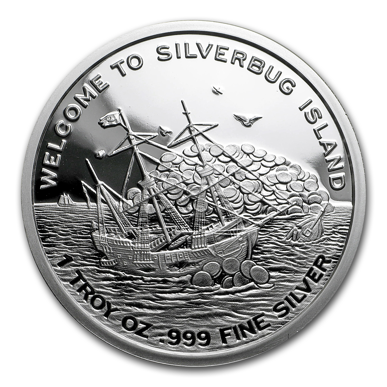 1 oz Silver Proof Round - 2016 Silverbug Island Mermaid