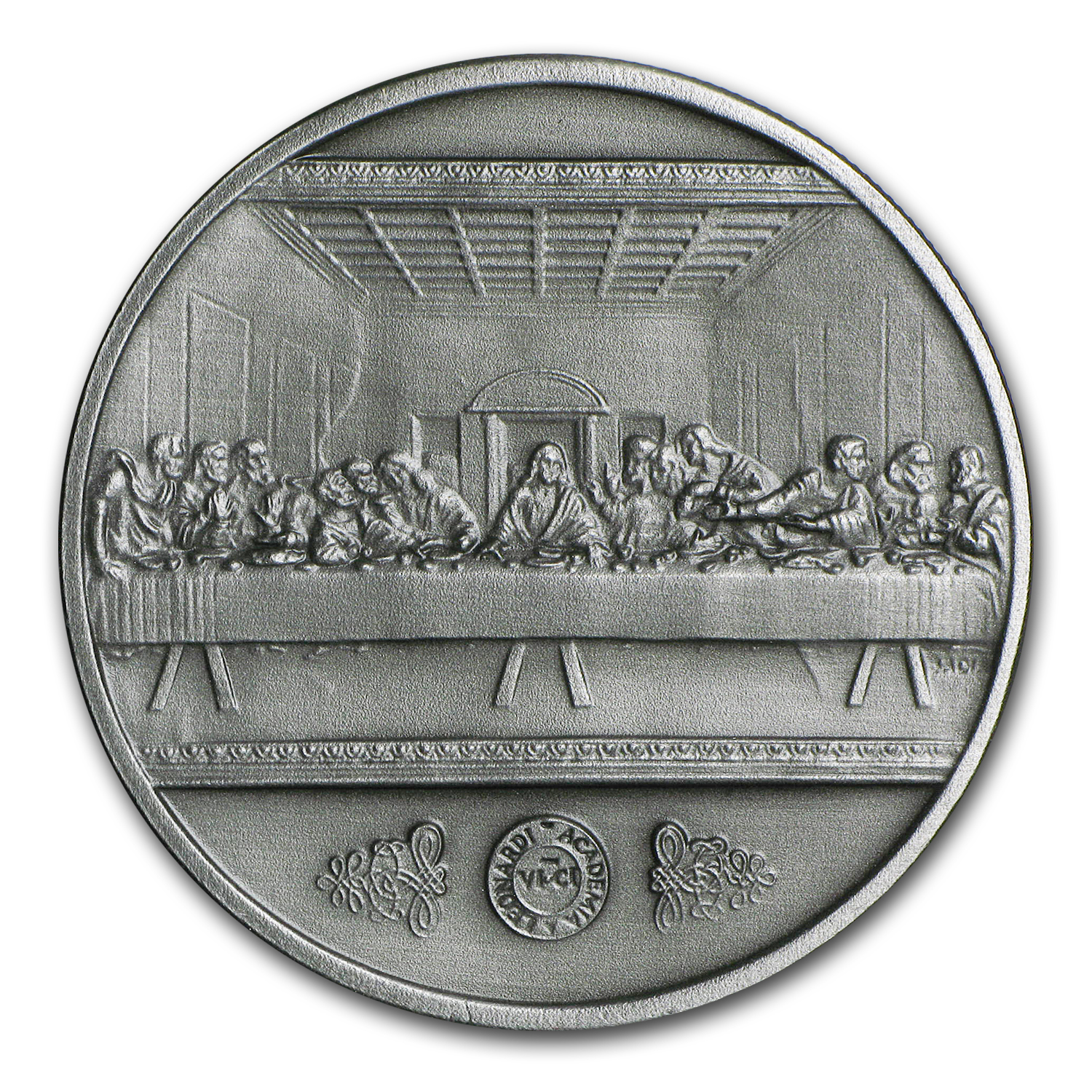 1 oz Silver Antiqued Round - Leonardo Da Vinci: The Last Supper