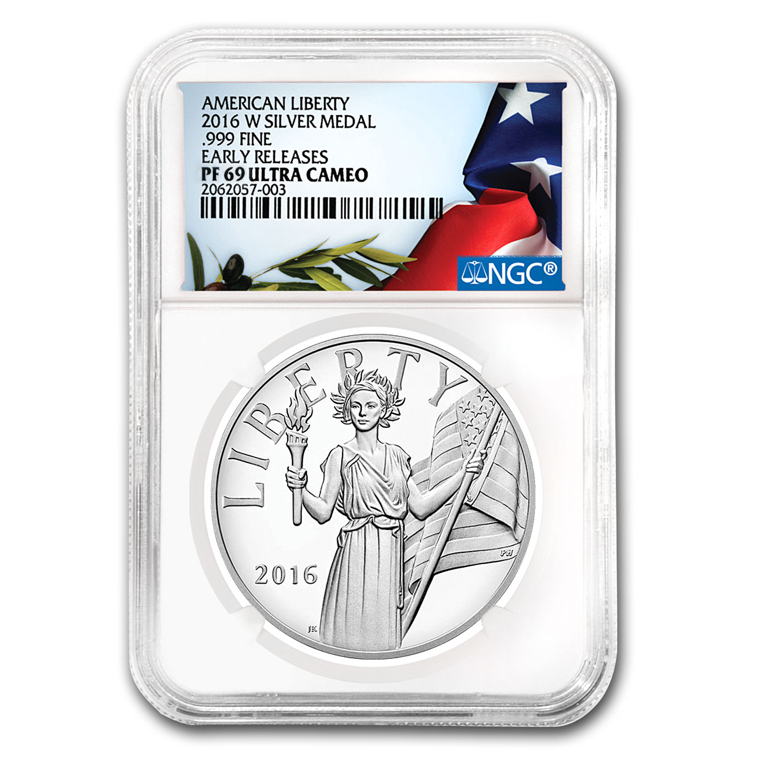2016-W American Liberty Silver Medal PF-69 NGC (ER)