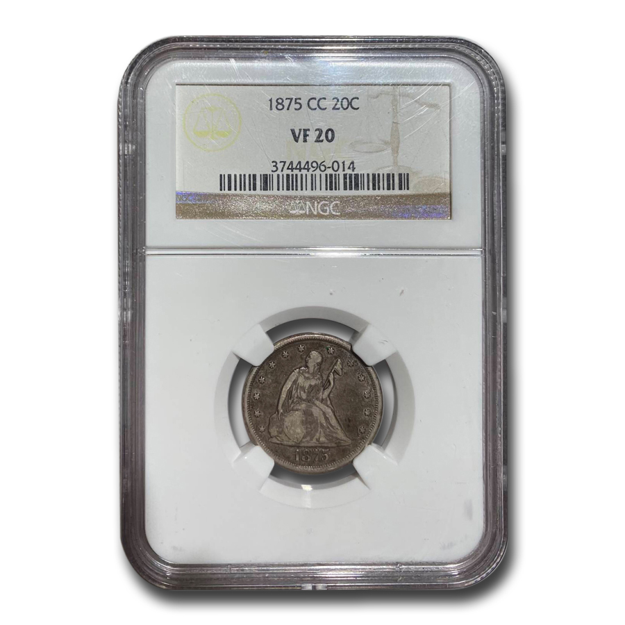1875-CC Twenty Cent Piece VF-20 NGC