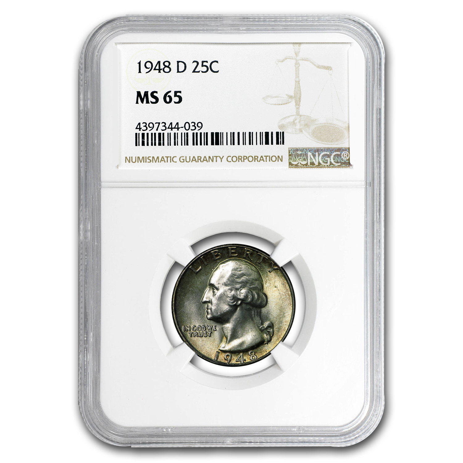 1948-D Washington Quarter MS-65 NGC