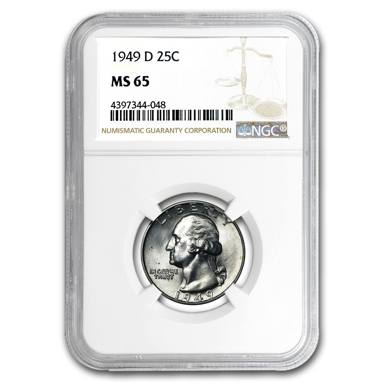 1949-D Washington Quarter MS-65 NGC