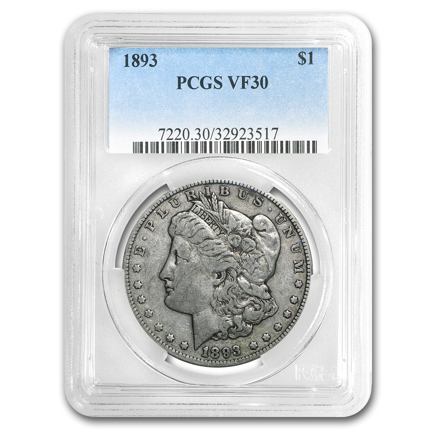 1893 Morgan Dollar VF-30 PCGS