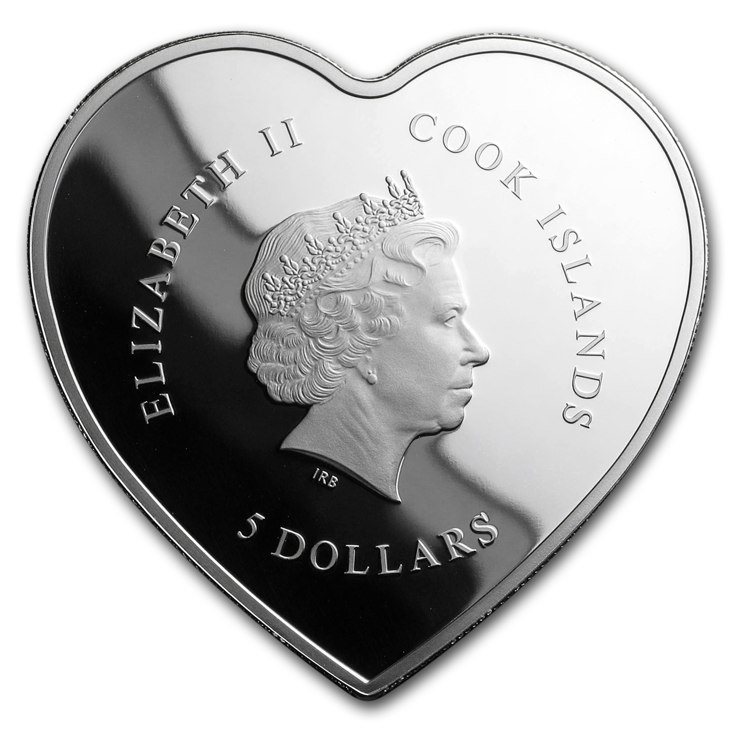 2017 Cook Islands Silver Happy Valentine's Day-Heart Shape