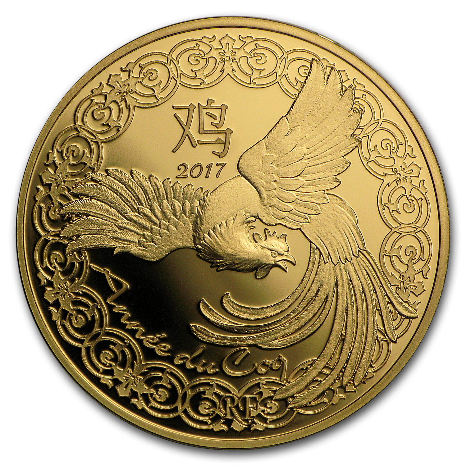 2017 France 1/4 oz Gold €50 Year of the Rooster Proof (Lunar)