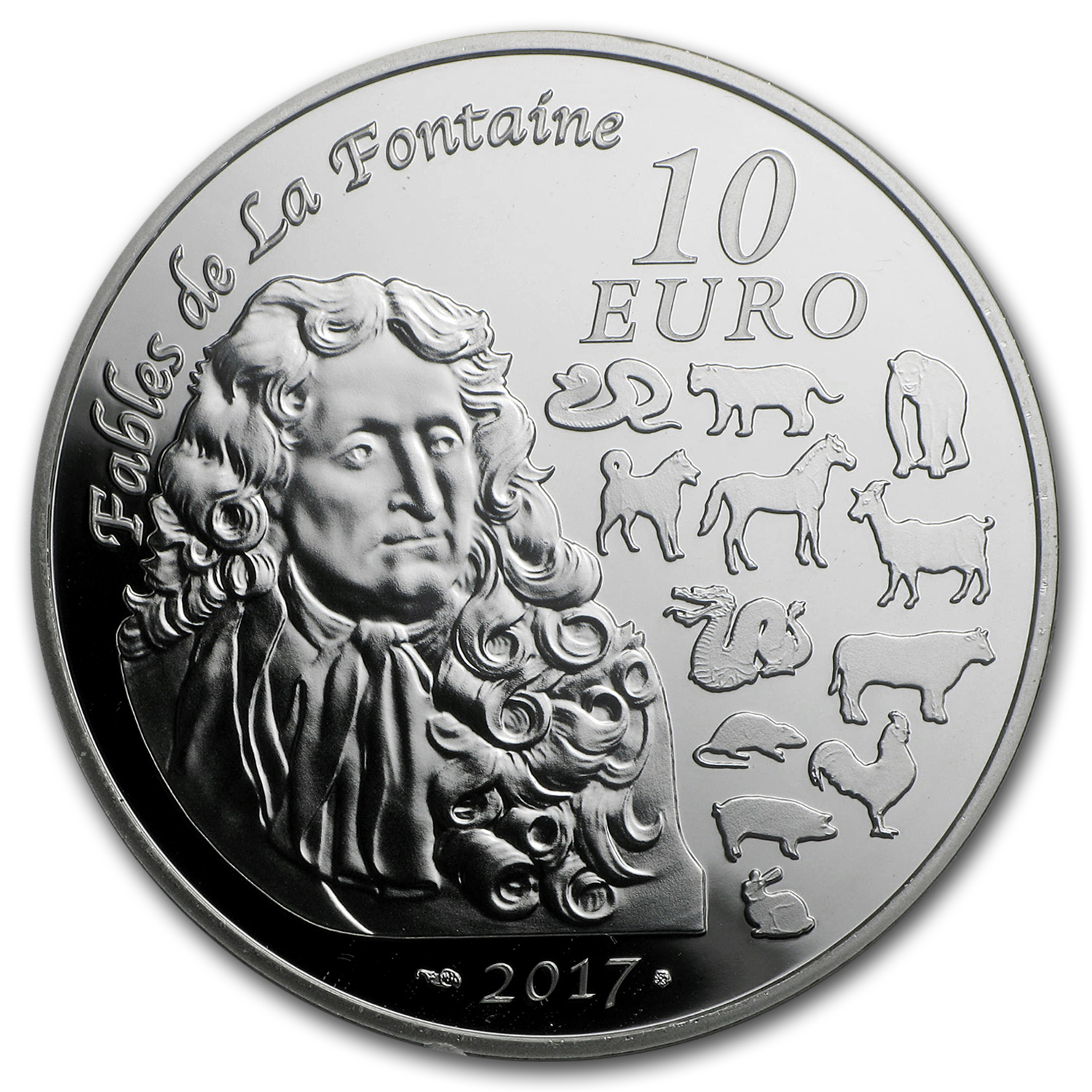 2017 France Silver €10 Year of the Rooster Proof (Lunar Series)
