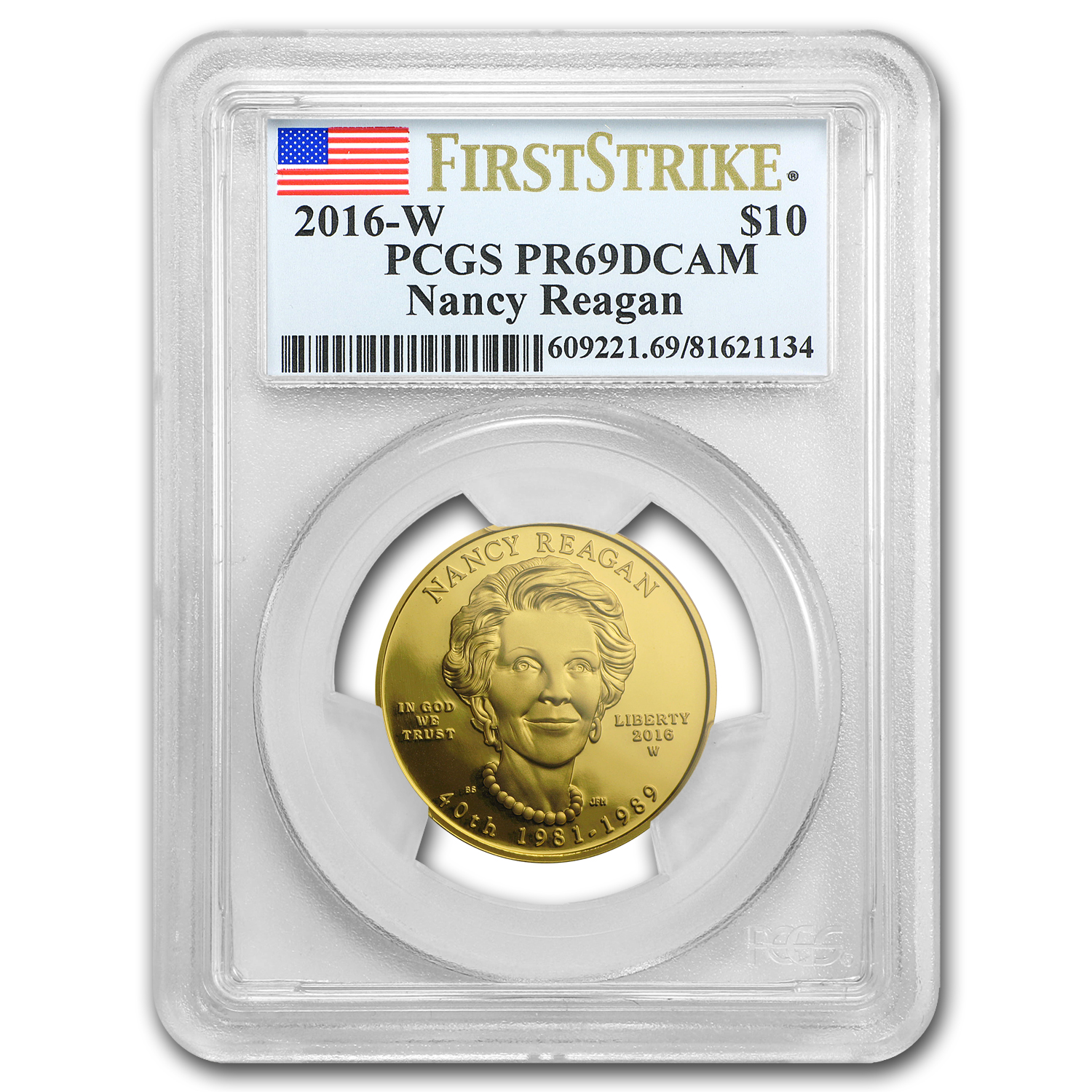 2016-W 1/2 oz Proof Gold Nancy Reagan PR-69 PCGS (FS)