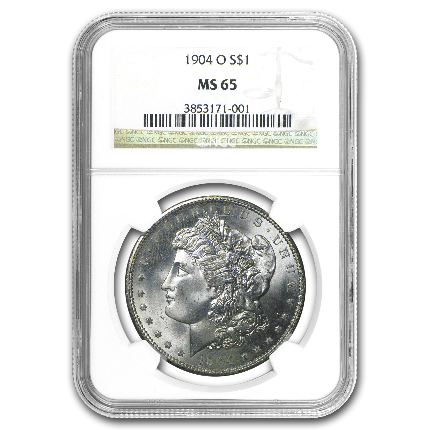 1904-O Morgan Dollar MS-65 NGC