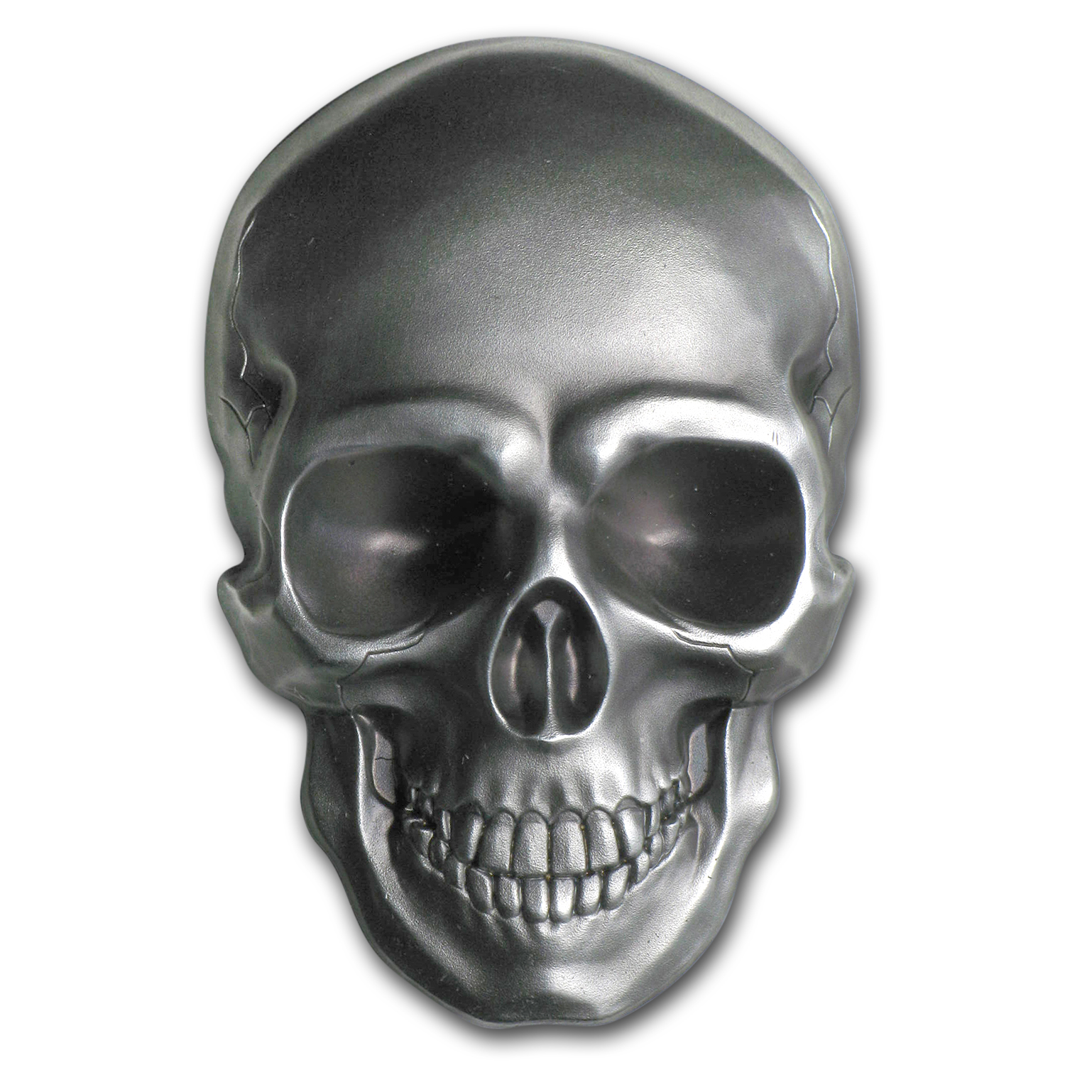 2016 Palau 1 oz Silver Antique Finish Skull Number 1