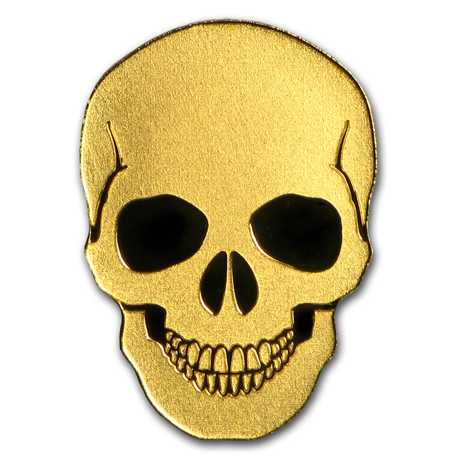Palau 1/2 gram Gold $1 Golden Skull