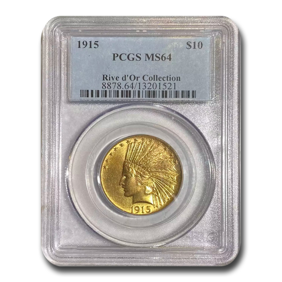 1915 $10 Indian Gold Eagle MS-64 PCGS