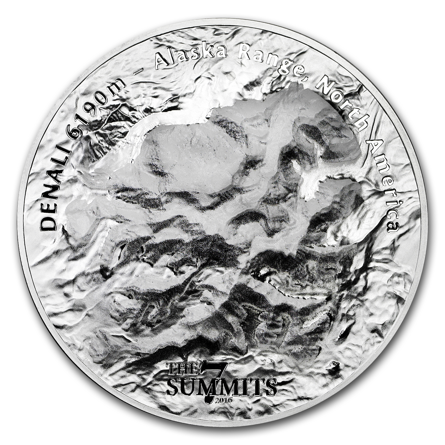 2016 Cook Islands 5 oz Silver 7 Summits (Denali)