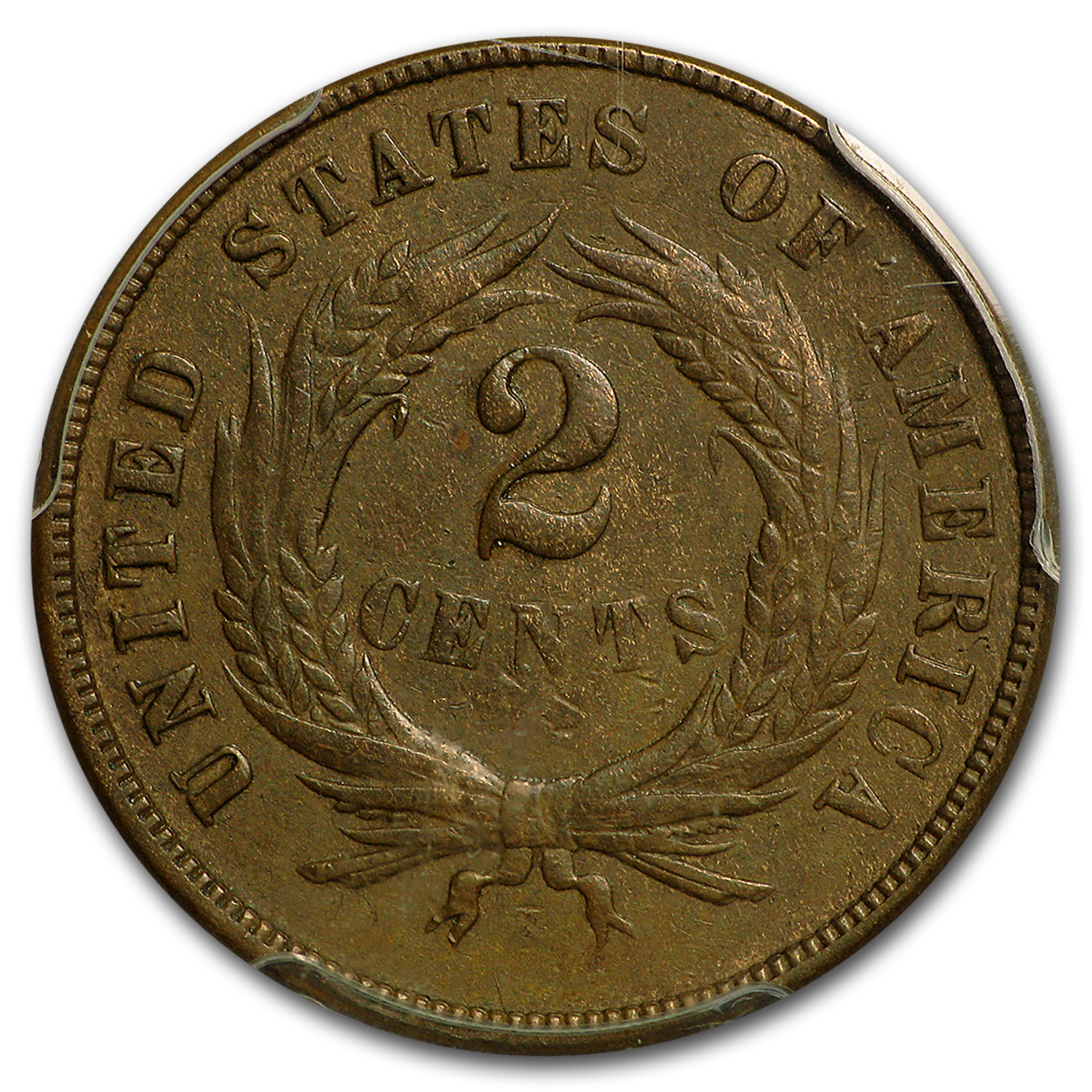 1870 Two Cent Piece AU-55 PCGS