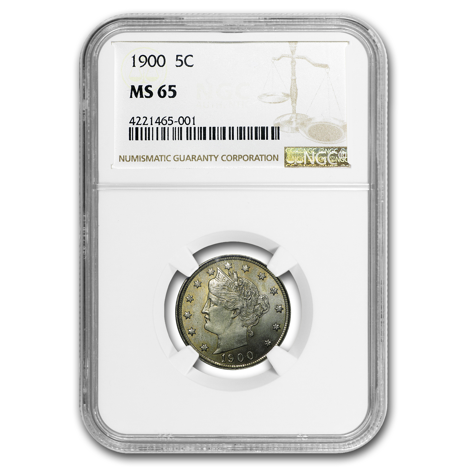 1900 Liberty Head V Nickel MS-65 NGC