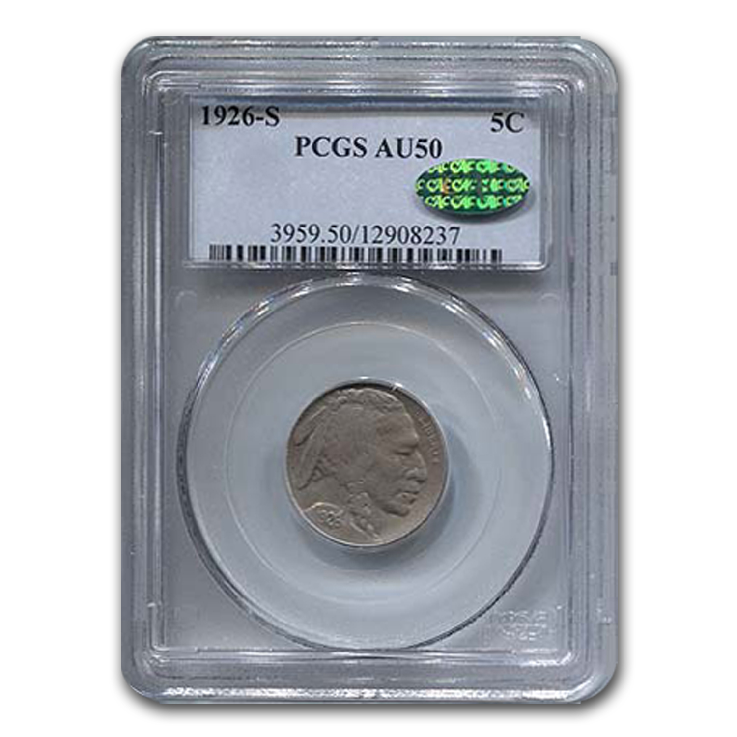 1926-S Buffalo Nickel AU-50  PCGS