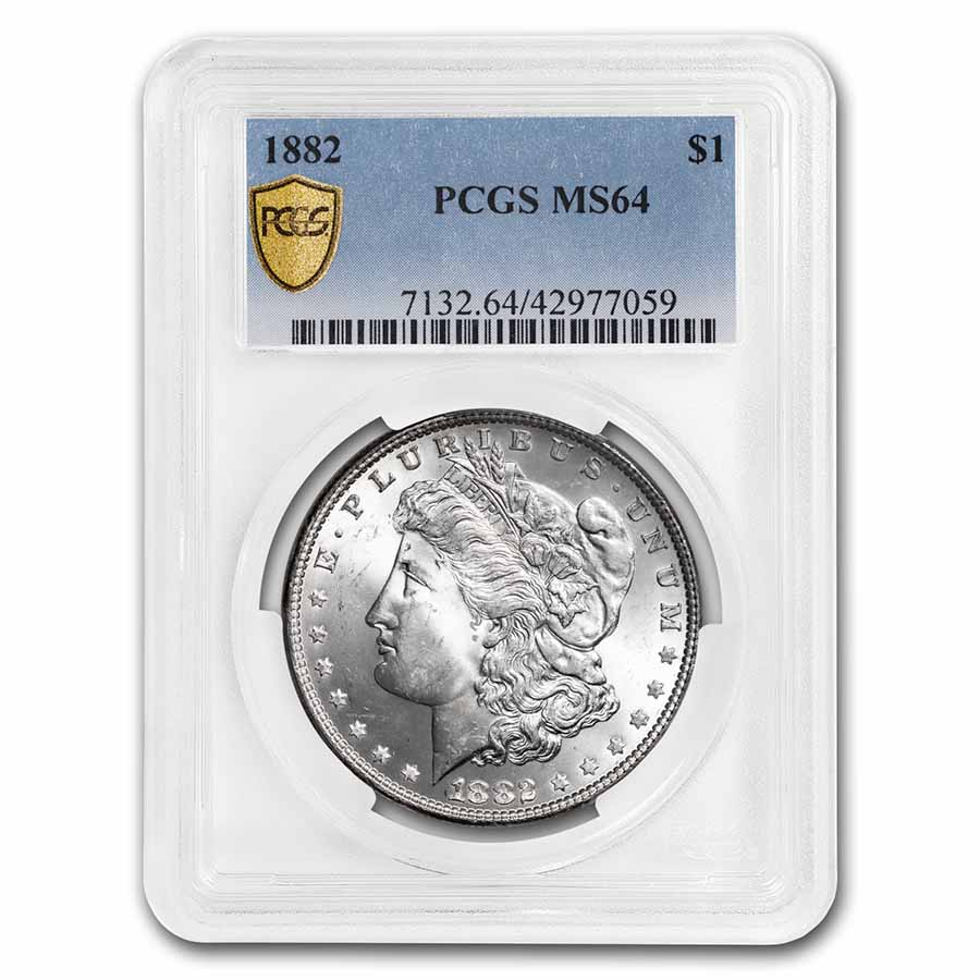 1882 Morgan Dollar - MS-64 PCGS