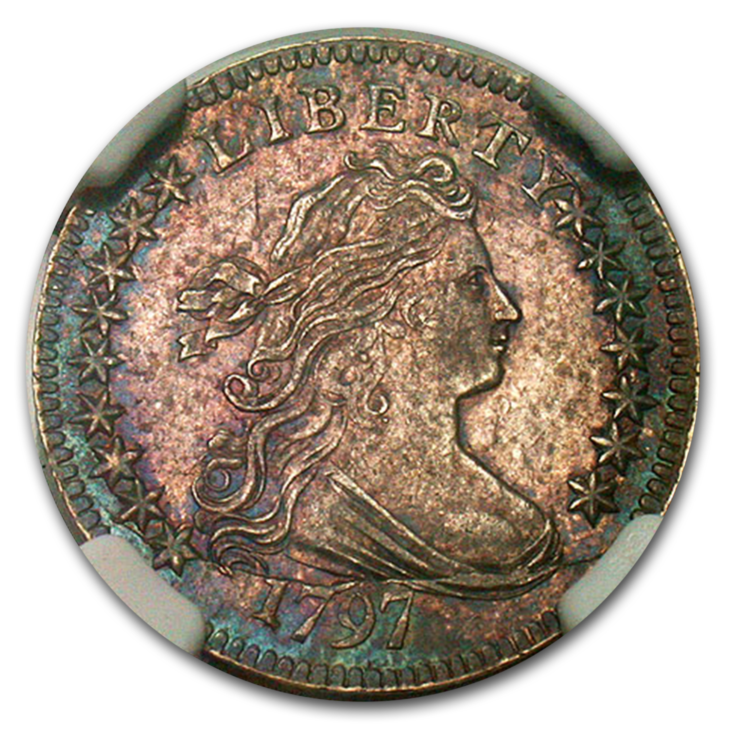 1797 Draped Bust Dime MS-63 NGC (16 Stars, JR-1)