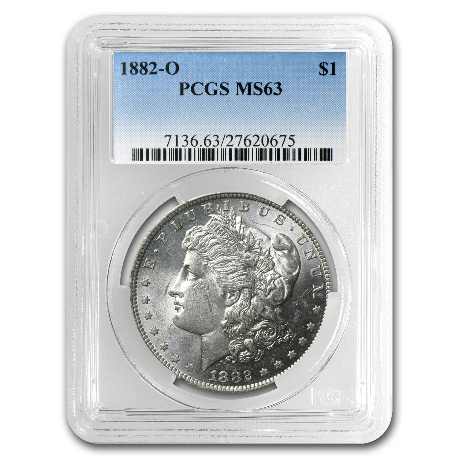 1882-O Morgan Dollar - MS-63 PCGS