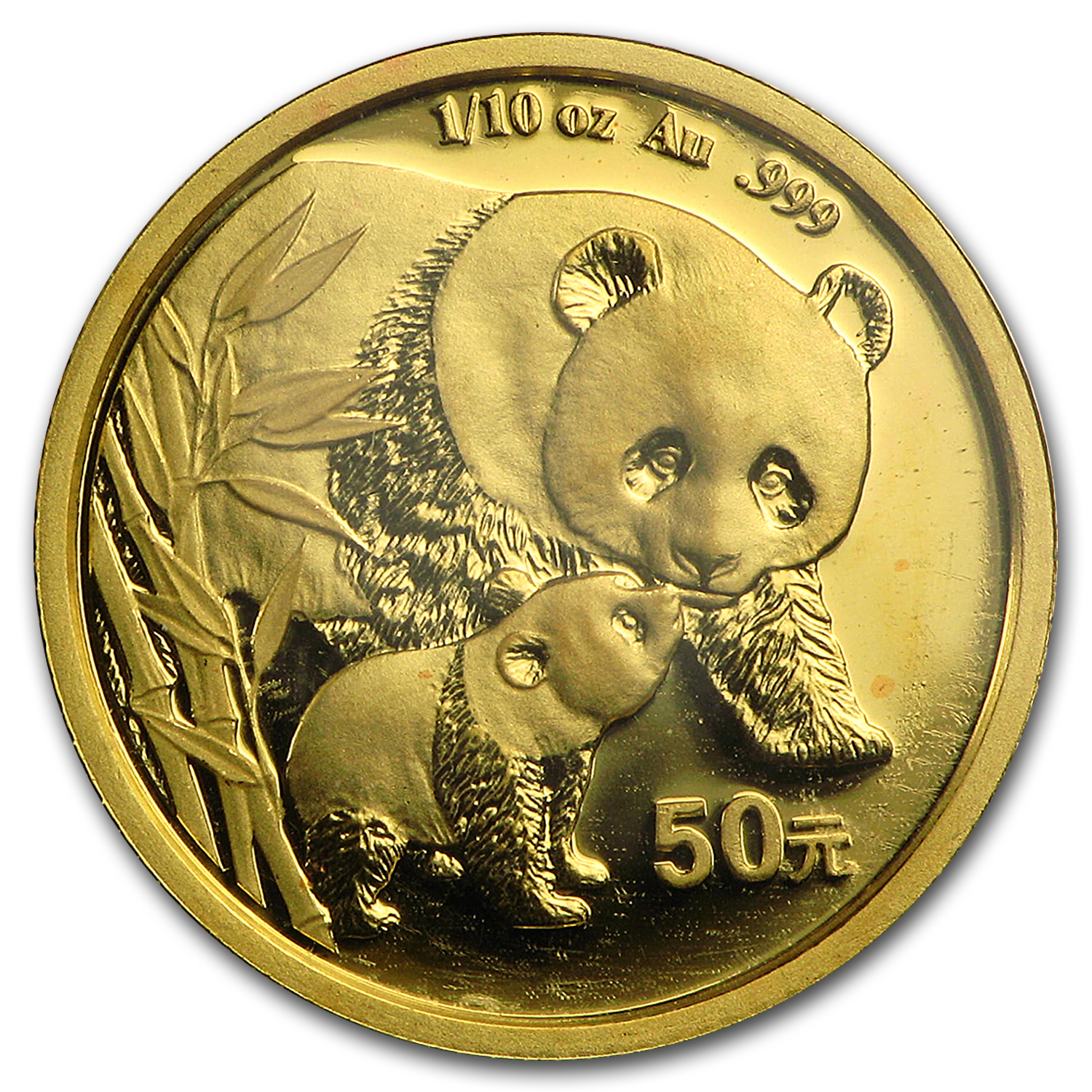 2004 1/10 oz Gold Chinese Panda BU (Sealed)
