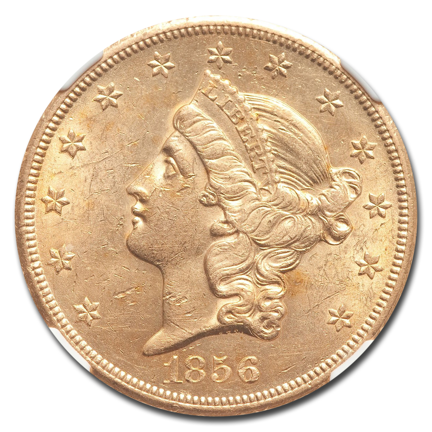 1856-S $20 Liberty Gold Double Eagle AU-58 NGC